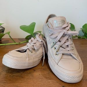Converse All Star Pink Leather Low Tops